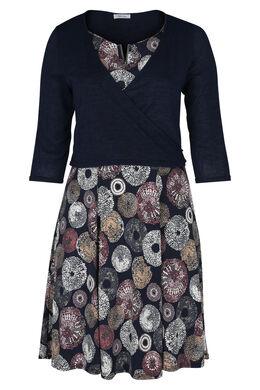 Set bestaande uit een jurk en cardigan, Marineblauw