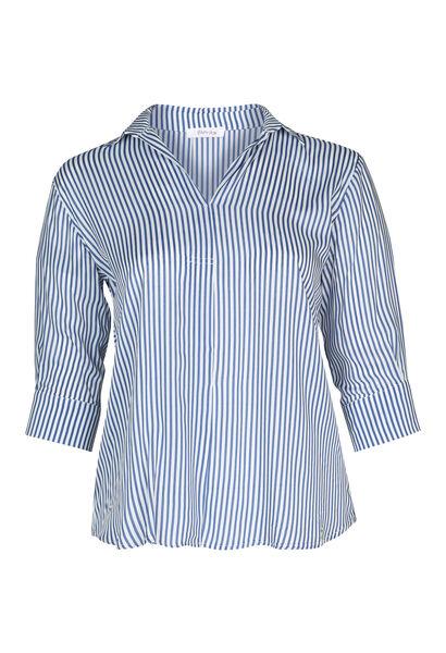 Gestreepte bloes - Marineblauw