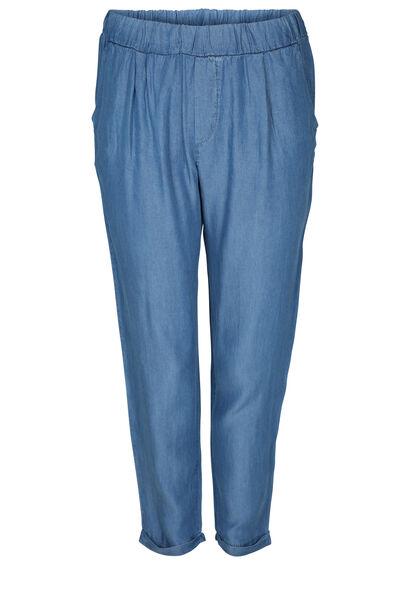 Kuitbroek in lyocell-jeans - Denim