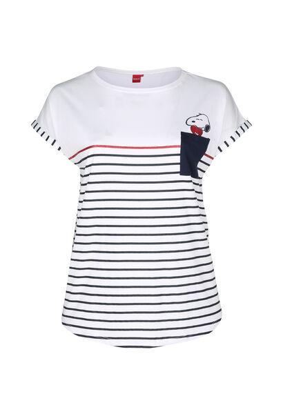 Gestreept T-shirt Snoopy - Wit