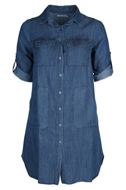 Hemdjurk in tencel, Denim