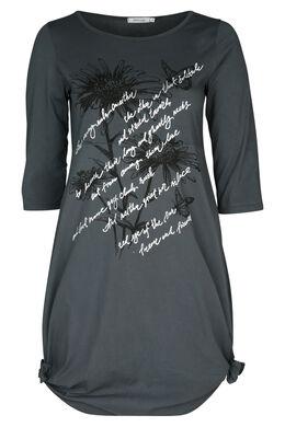 Bedrukte jurk, Antraciet
