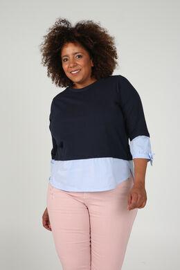 Sweater met 2-in-1-effect, Marineblauw