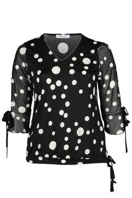 T-shirt met cirkels, Zwart