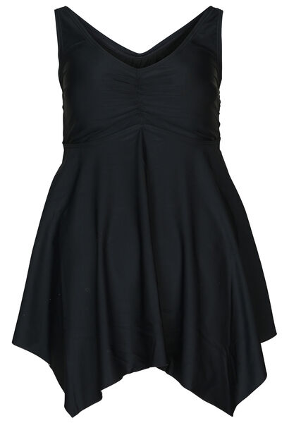 Effen badpakjurk - Zwart