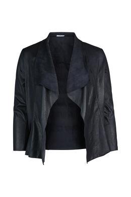 Kort jasje met slippen, Marineblauw