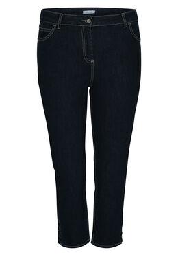 3/4-jeans met ringetjes, Denim