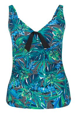 Tankini top met jungleprint, Multicolor