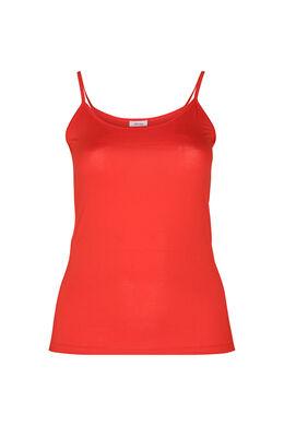 Top met dunne schouderbandjes, Oranje