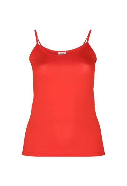 Top met dunne schouderbandjes - Oranje