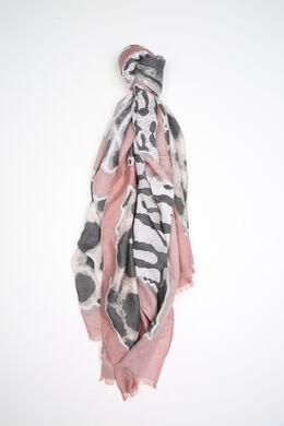 Foulard in bedrukte viscose, Blush