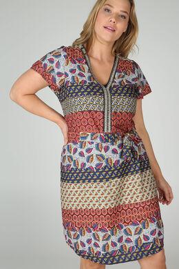 Tuniekjurk met etnische print, Multicolor
