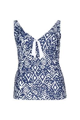 Tankini top met Azteekse print, Marineblauw