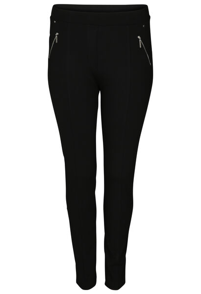 Jegging in warm tricot - Zwart