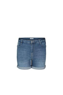 Jeansshort met ringetjes, Denim