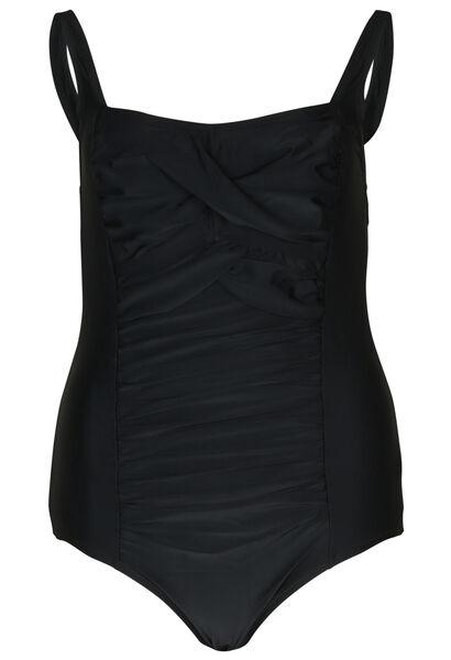 Effen badpak - Zwart