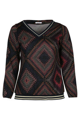 T-shirt met missoni-print en lurex, Multicolor