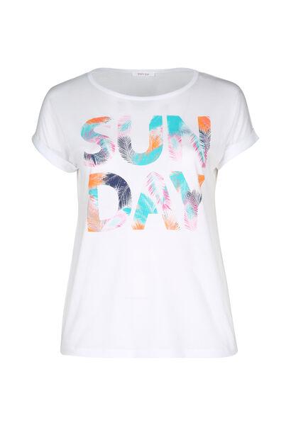T-shirt 'Sun day' - Wit