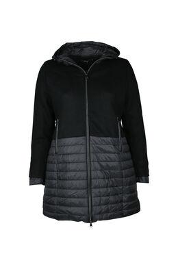 Wollen mantel, Zwart
