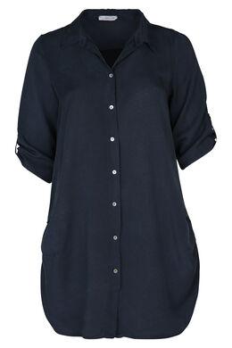 Lange bloes met 3/4-mouwen, Marineblauw