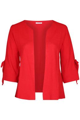Cardigan met brede mouwen met strikjes, Rood