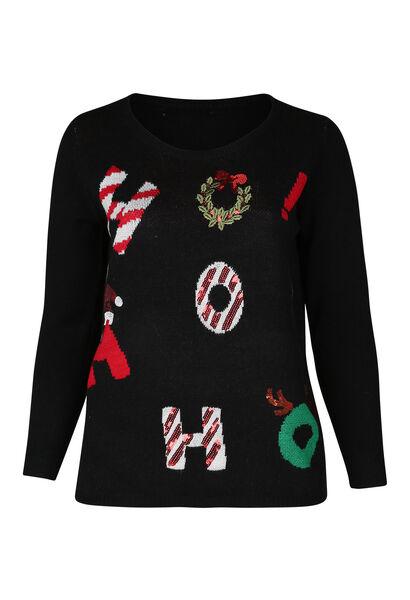 Kersttrui - Zwart