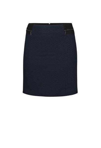 Rok in tricot - Marineblauw