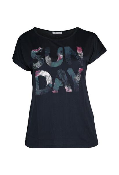 T-shirt 'Sun day' - Marineblauw