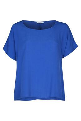 Ruime bloes met korte mouwen, Bic blauw