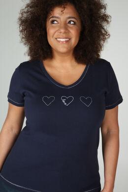 T-shirt biologisch katoen, Marineblauw