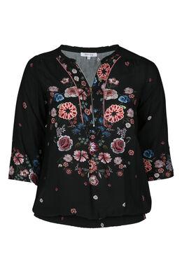 Bloes met bloemen, Zwart