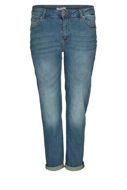 Jeans met geborduurde sterren, Denim