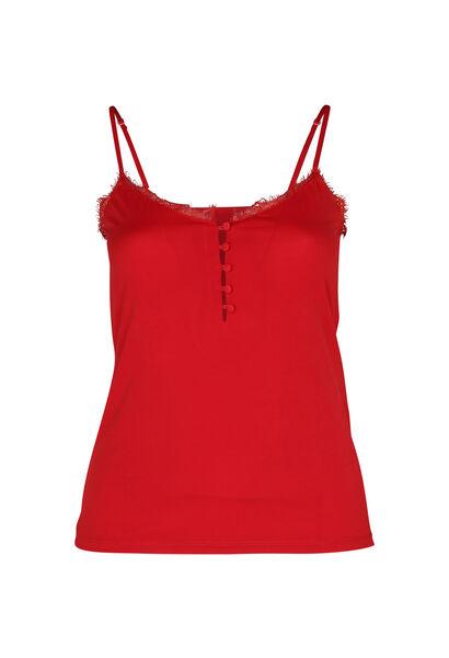 Top met dunne, aanpasbare schouderbandjes - Rood
