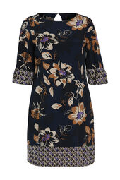 Rechte jurk met bloemen