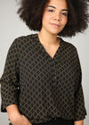 Hemd met kettingprint, Zwart