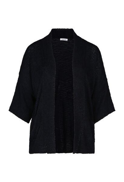 Lange cardigan in bouclétricot - Marineblauw