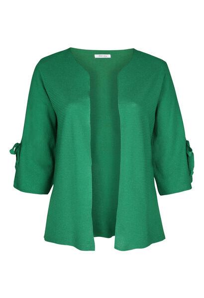 Cardigan met brede mouwen met strikjes - Groen
