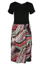 Lange jurk met grafische print