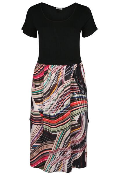 Lange jurk met grafische print - Multicolor