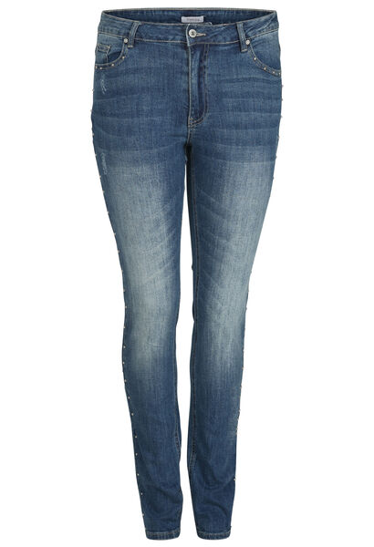 Slim jeans met studs - Denim