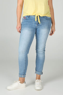 Smalle jeans met borduurwerk, Denim