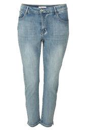 Enkellange slim jeans met kraaltjes