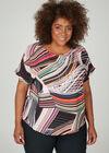 Ruime blouse met geometrische print, Multicolor