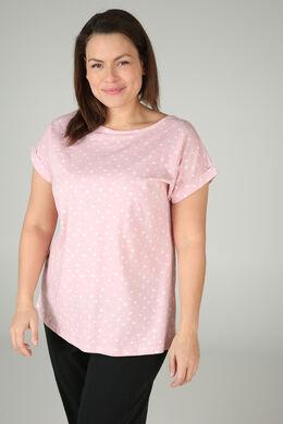Nachtshirt met hartjes, Roze