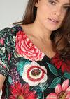 Jurk met bloemenprint en strassteentjes, Multicolor