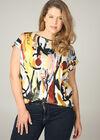 T-shirt met schilderijprint, Multicolor