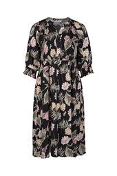 Lange jurk in viscose met een bloemenprint