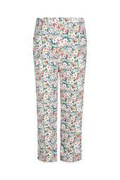 Soepel vallende broek met bloemenprint