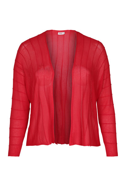 Cardigan met gestructureerde lijnen - Rood