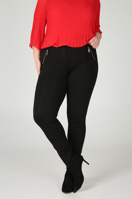 Jegging in warm tricot, Zwart